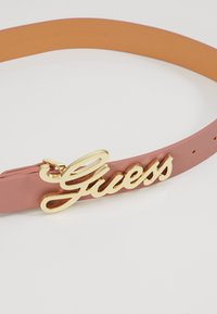 Guess - DIGITAL ADJUSTABLE PANT BELT - Ceinture - rosewood