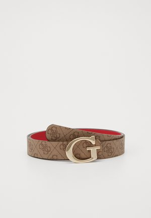 ALBY NOT ADJUST PANT BELT - Riem - brown/cherry
