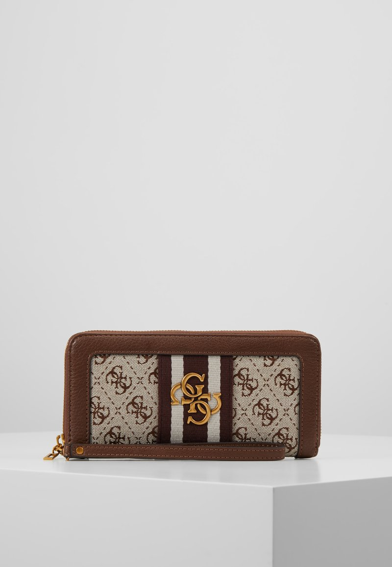 Guess - VINTAGE ZIP AROUND - Portefeuille - brown