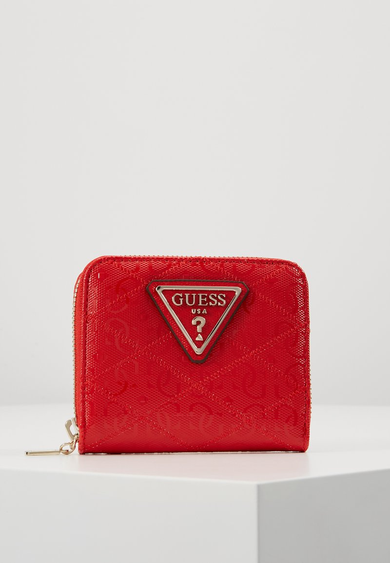 Guess - ASTRID SMALL ZIP AROUND - Lommebok - red