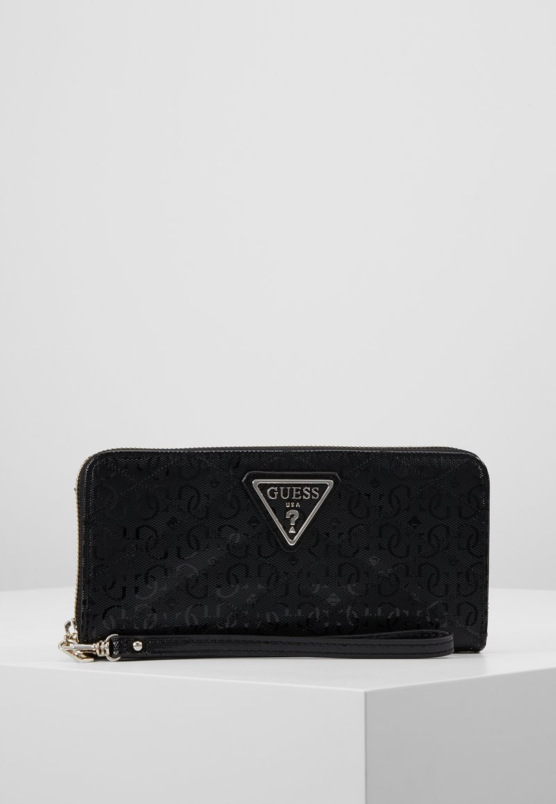 Guess - ASTRID LARGE ZIP AROUND - Wallet - black