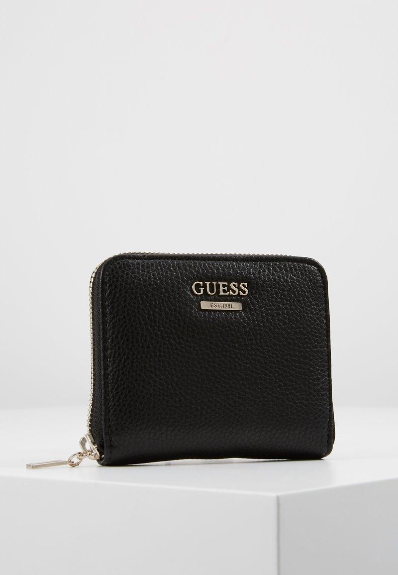Guess - LIAS SMALL ZIP AROUND - Portemonnee - black