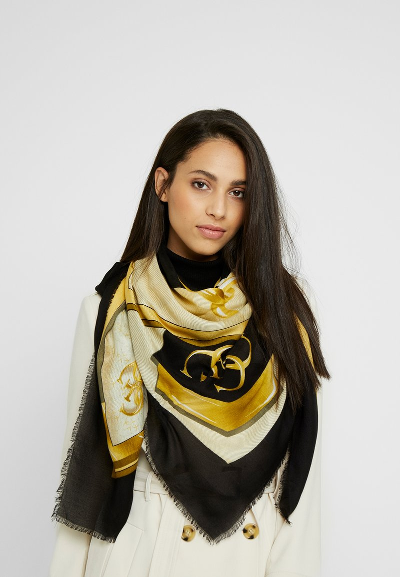 Guess - KELSEY KEFIAH - Foulard - black/yellow