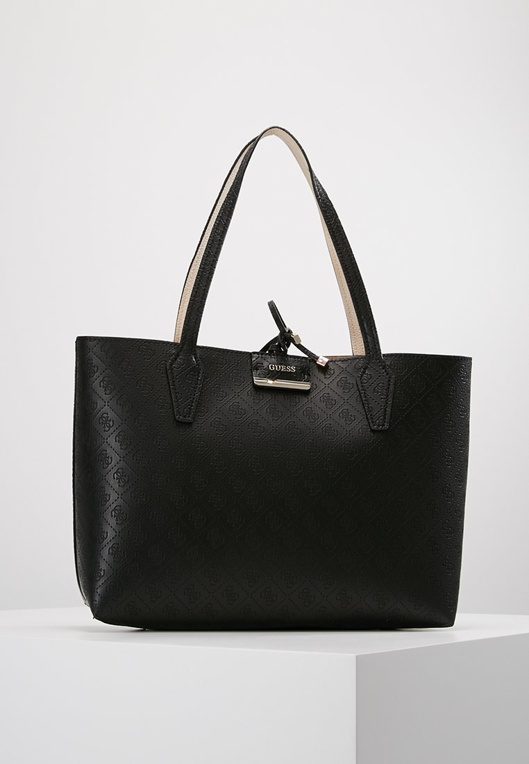 Guess - BOBBI INSIDE OUT TOTE SET - Cabas - black/nude