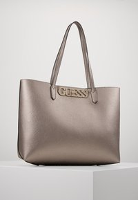 Guess - UPTOWN CHIC BARCELONA TOTE SET - Tote bag - pewter - 0