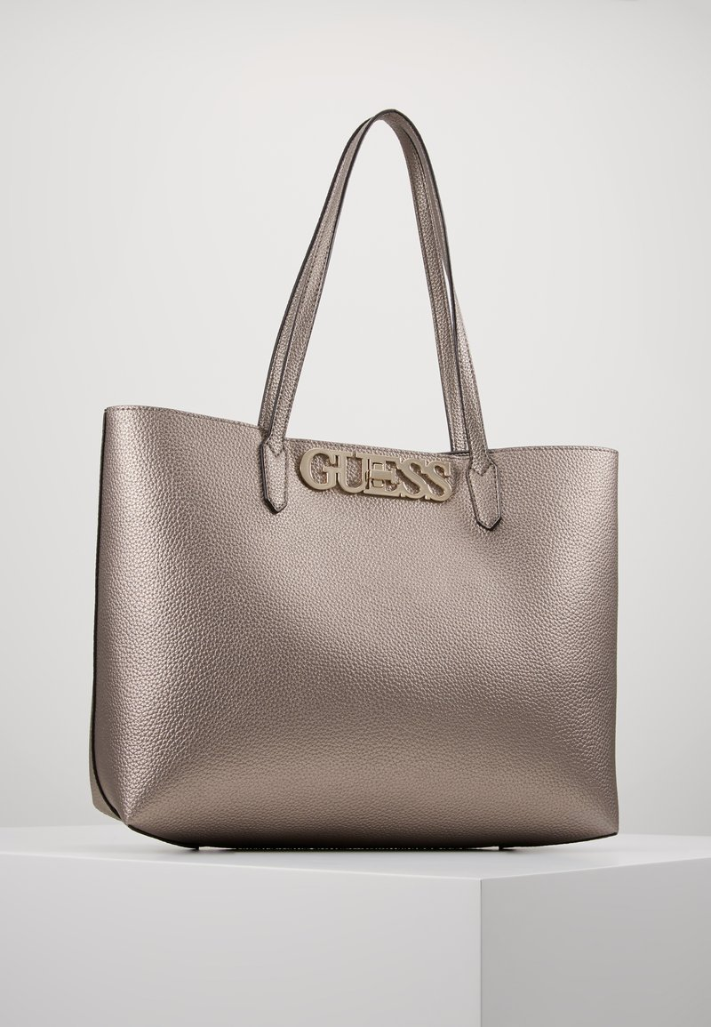 Guess - UPTOWN CHIC BARCELONA TOTE SET - Tote bag - pewter
