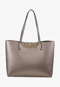 Guess - UPTOWN CHIC BARCELONA TOTE SET - Tote bag - pewter - 6