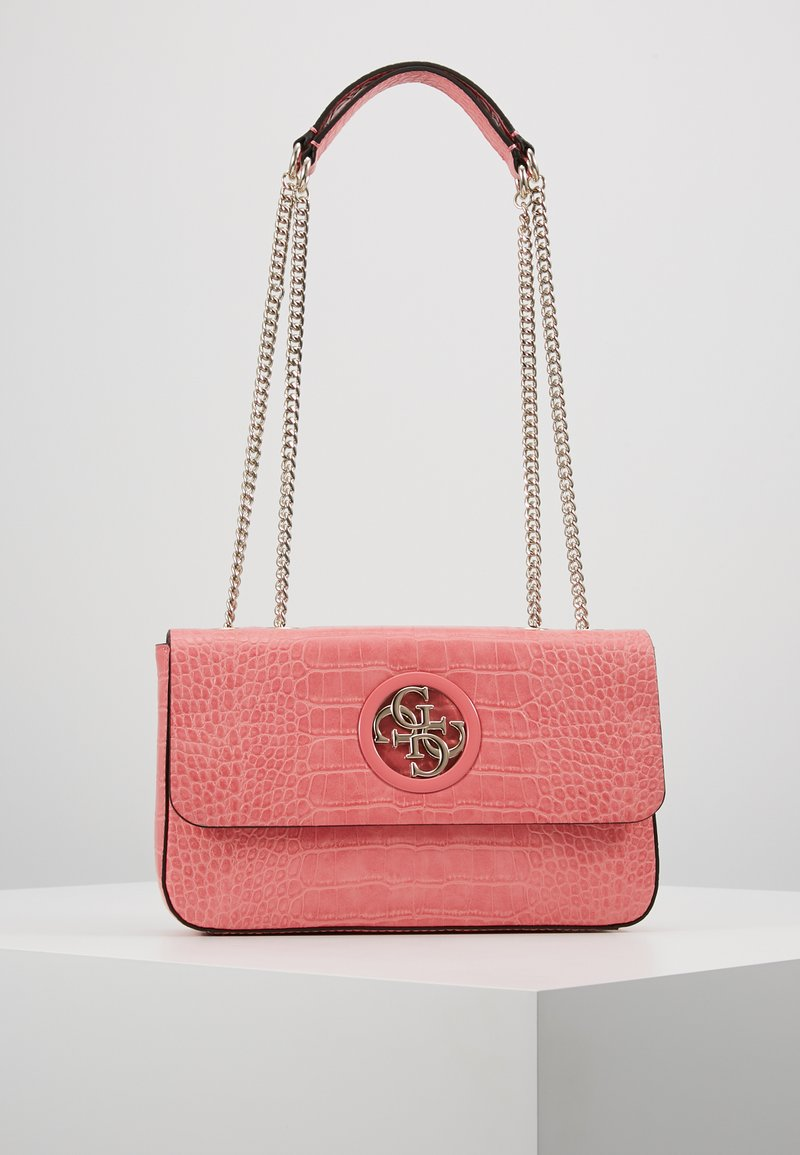 Guess - OPEN ROAD XBODY FLAP - Across body bag - rose