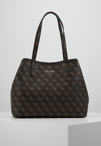 Guess - VIKKY TOTE SET - Torebka - brown - 0