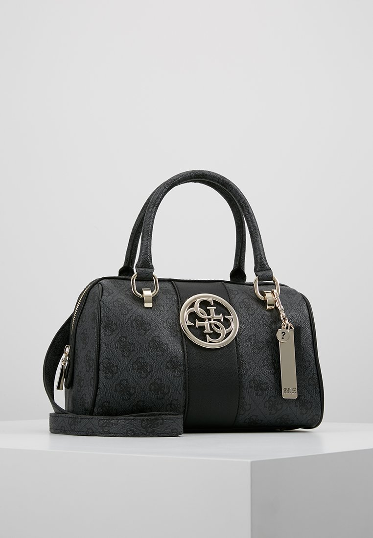 Guess - BOX SATCHEL - Handtas - coal