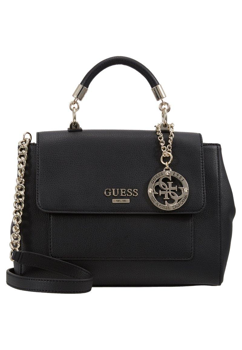 Guess - ALMA TOP HANDLE FLAP - Handbag - black
