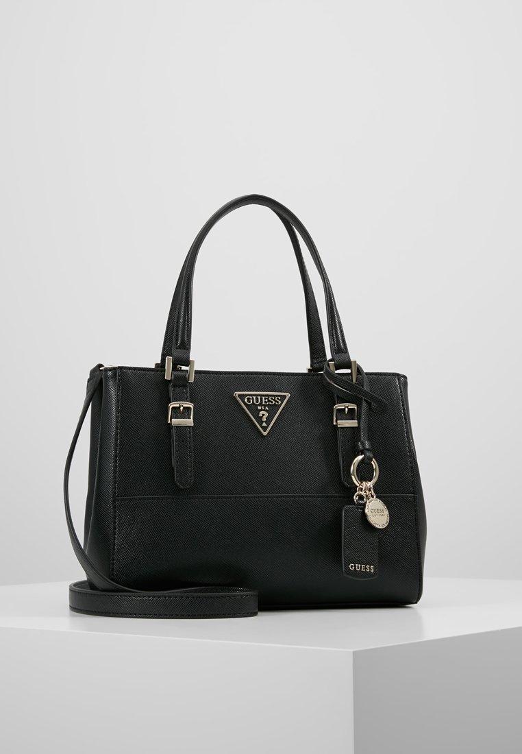 Guess - CARYS SATCHEL - Handbag - black