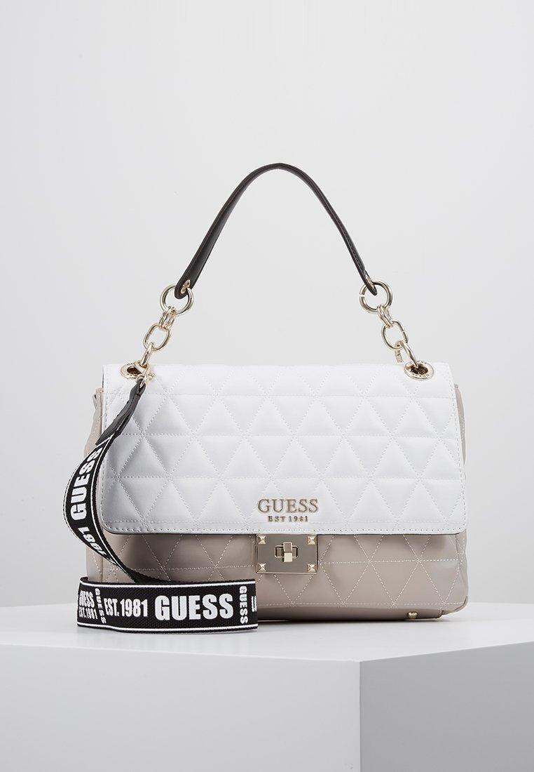 Guess - LAIKEN SHOULDER BAG - Handtasche - white/multi