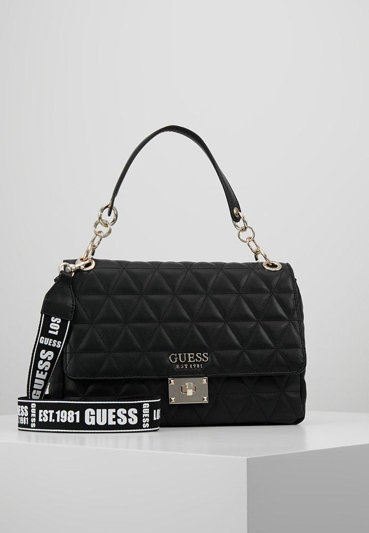 Guess - LAIKEN SHOULDER BAG - Handtasche - black