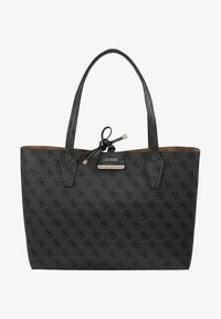 Guess - BOBBI INSIDE OUT TOTE SET - Handbag - coal/brown - 8