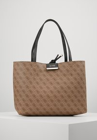 Guess - BOBBI INSIDE OUT TOTE SET - Handbag - coal/brown - 5