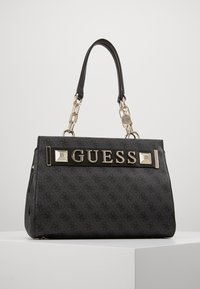 Guess - KERRIGAN GIRLFRIEND CARRYALL - Kabelka - coal - 0