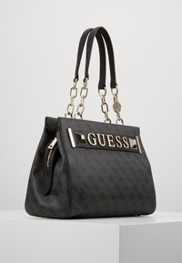 Guess - KERRIGAN GIRLFRIEND CARRYALL - Torebka - coal - 3