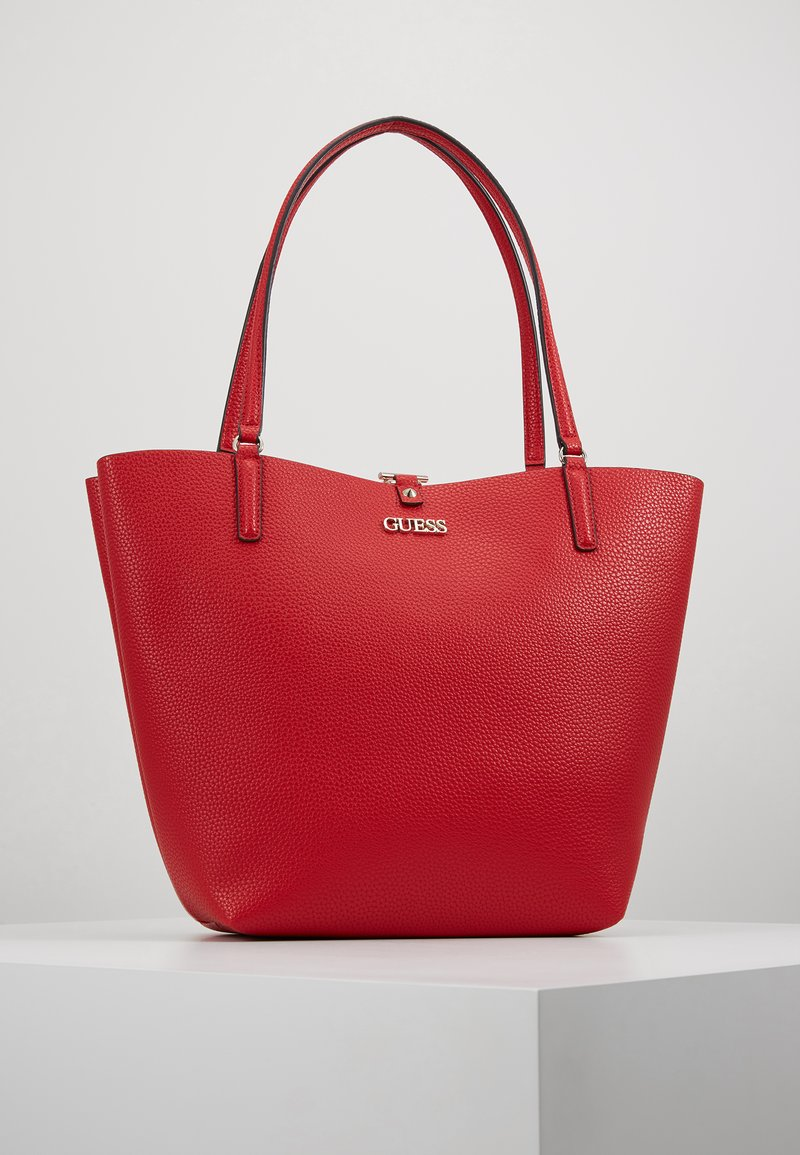 Guess - ALBY TOGGLE TOTE SET - Handbag - lipstick