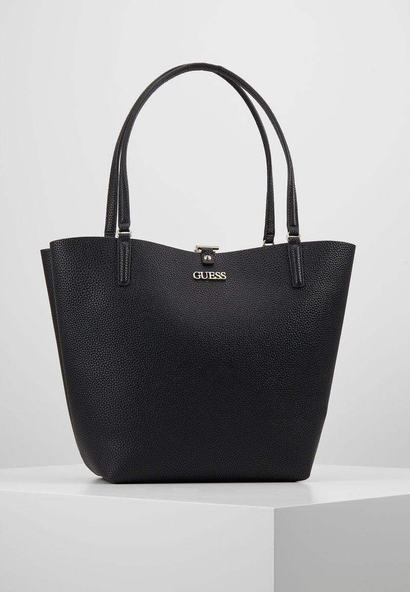 Guess - ALBY TOGGLE TOTE SET - Handbag - black