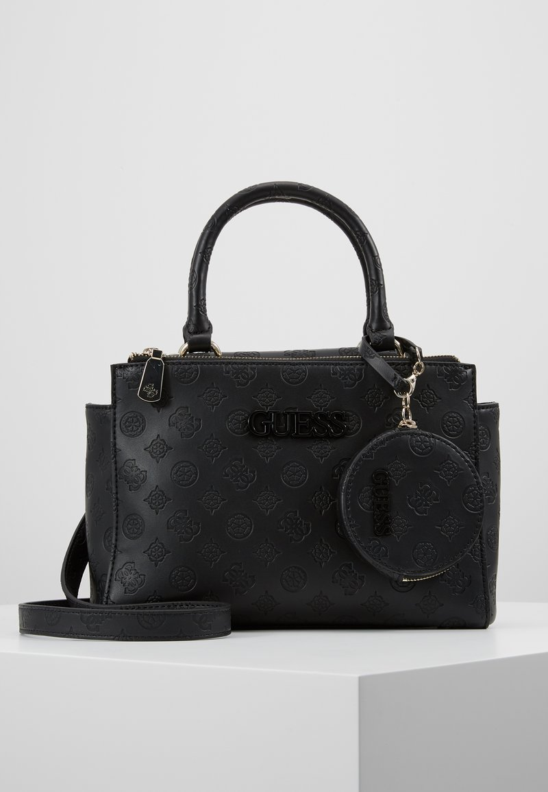 Guess - JANELLE SMALL STATUS SATCHEL SET - Handbag - black