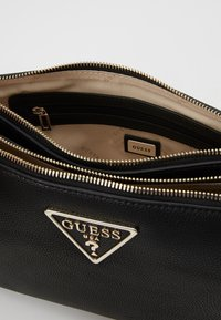 Guess - MICHY MINI DOUBLE ZIP XBODY - Sac bandoulière - black - 4