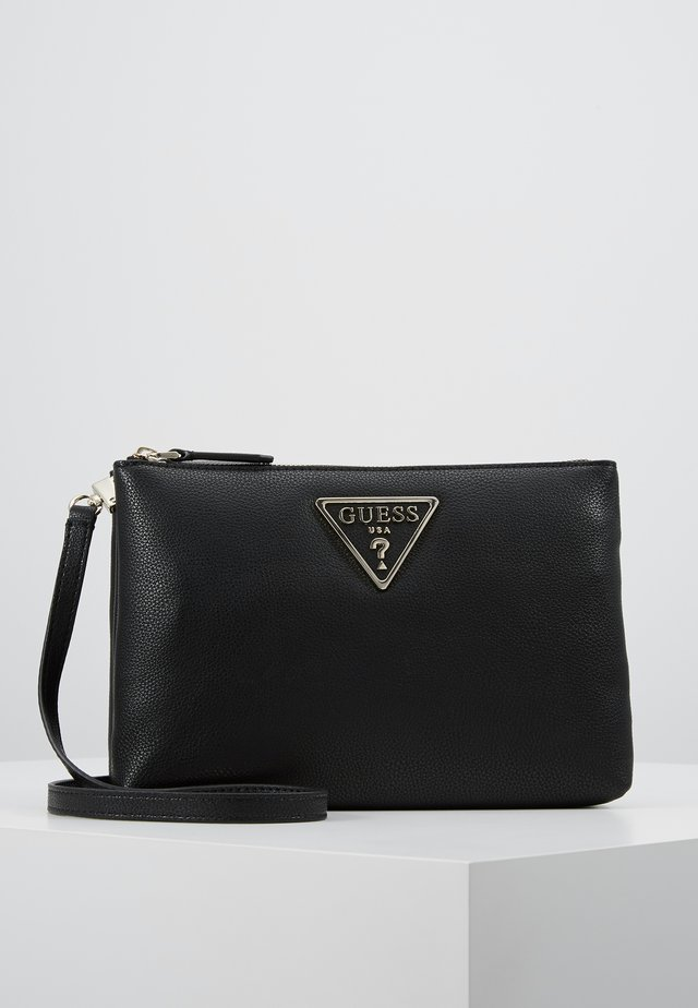 MICHY MINI DOUBLE ZIP XBODY - Sac bandoulière - black