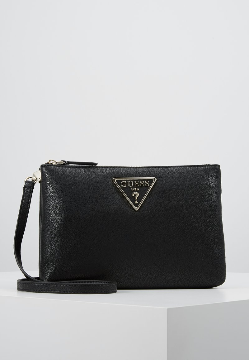 Guess - MICHY MINI DOUBLE ZIP XBODY - Sac bandoulière - black