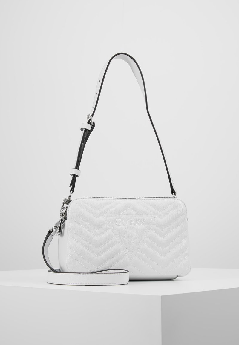 Guess - ZANA SHOULDER BAG - Handtas - white