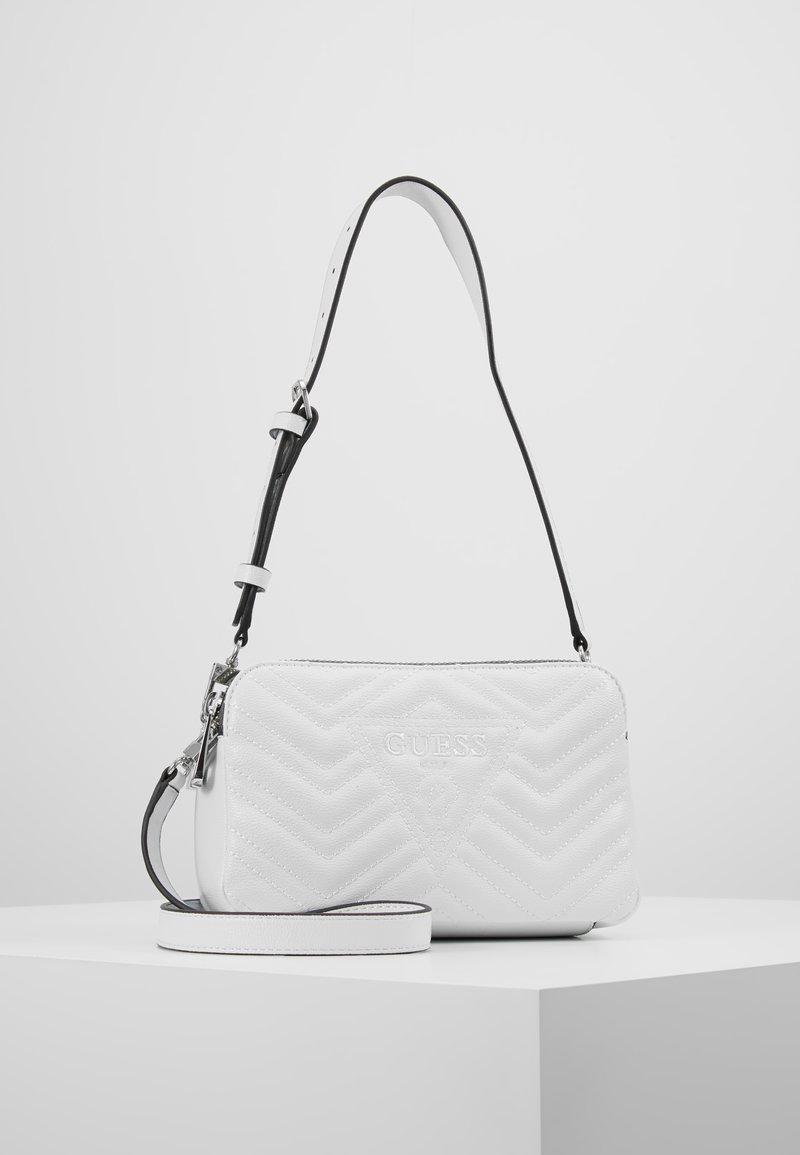 Guess - ZANA SHOULDER BAG - Handbag - white