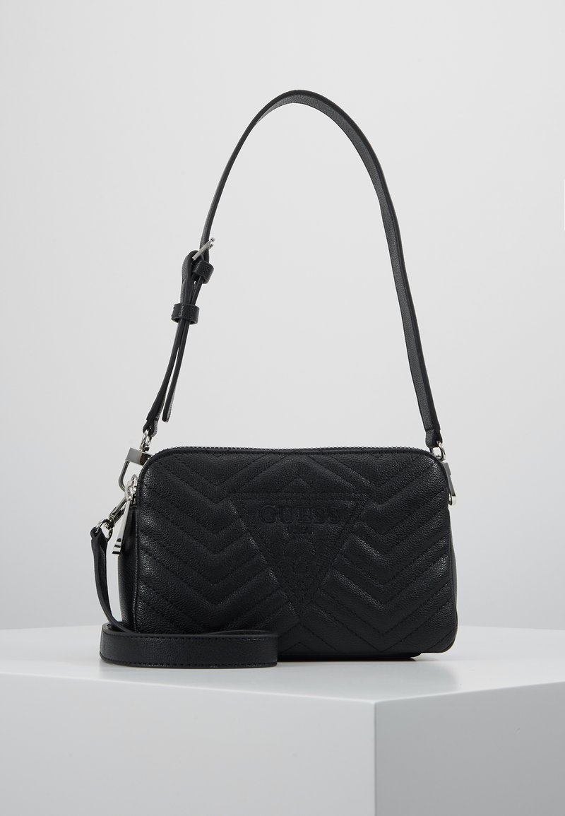 Guess - ZANA SHOULDER BAG - Sac à main - black
