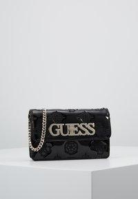 Guess - CHIC MINI CROSSBODY FLAP - Across body bag - black - 0