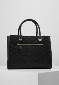 Guess - ASTRID LARGE STATUS SATCHEL - Handtas - black - 2