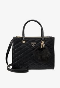 Guess - ASTRID LARGE STATUS SATCHEL - Handtas - black - 6