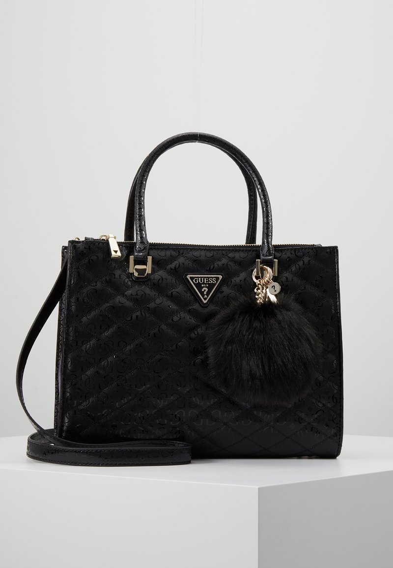 Guess - ASTRID LARGE STATUS SATCHEL - Handtas - black
