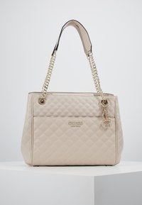 Guess - BRIELLE GIRLFRIEND SATCHEL - Kabelka - taupe - 0