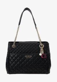 Guess - BRIELLE GIRLFRIEND SATCHEL - Kabelka - black - 6