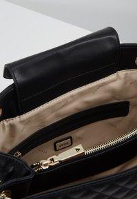 Guess - BRIELLE GIRLFRIEND SATCHEL - Handbag - black - 4