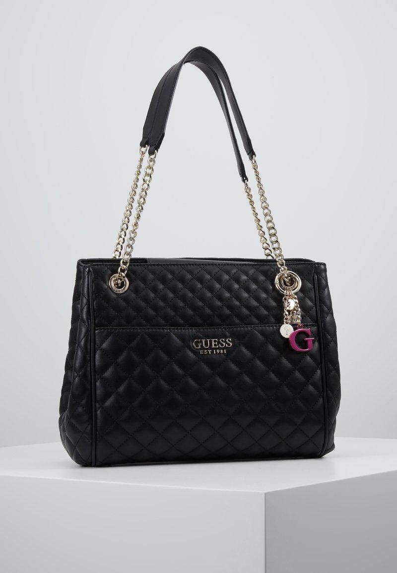 Guess - BRIELLE GIRLFRIEND SATCHEL - Handbag - black