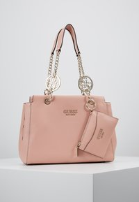 Guess - TARA GIRLFRIEND SATCHEL SET - Bolso de mano - peach - 0