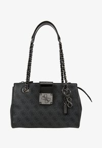 Guess - LOGO CITY SOCIETY SATCHEL - Handbag - coal - 5