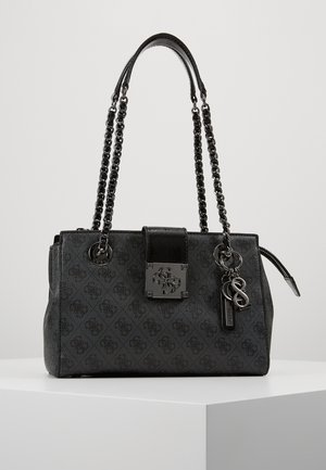 LOGO CITY SOCIETY SATCHEL - Handtas - coal