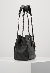 Guess - LOGO CITY SOCIETY SATCHEL - Handbag - coal - 3