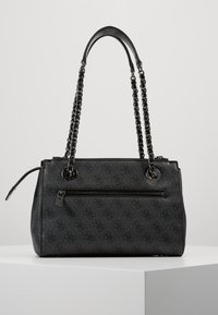 Guess - LOGO CITY SOCIETY SATCHEL - Handbag - coal - 2