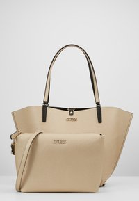 Guess - ALBY TOGGLE TOTE SET - Bolso shopping - black/gold - 5