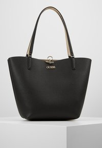Guess - ALBY TOGGLE TOTE SET - Bolso shopping - black/gold - 0