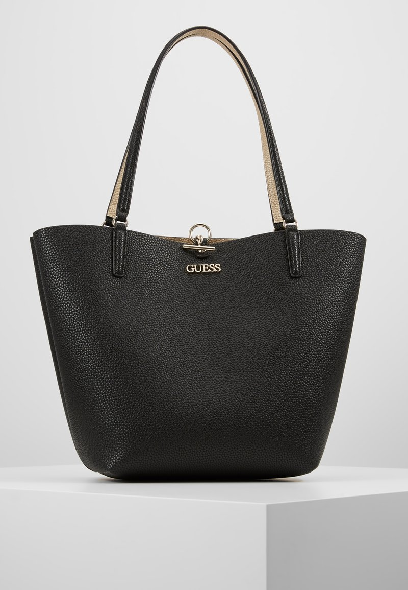 Guess - ALBY TOGGLE TOTE SET - Bolso shopping - black/gold