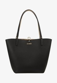 Guess - ALBY TOGGLE TOTE SET - Bolso shopping - black/gold - 6