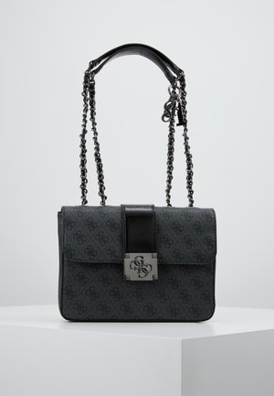 LOGO CITY CONVERTIBLE FLAP - Handbag - coal