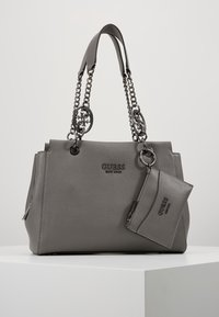 Guess - TARA GIRLFRIEND SATCHEL - Handbag - grey - 0